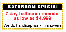 Bathroom Special Coupon